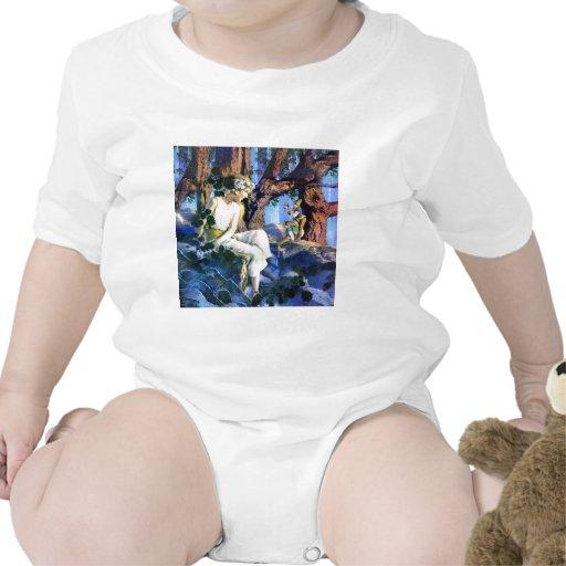 Princesa justa de Maxfield Parrish y los gnomos Traje De Bebé