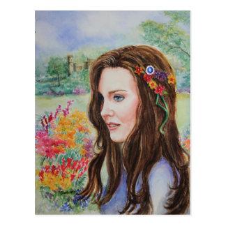 Princesa Kate Sapphire Postcard de PMACarlson Postales