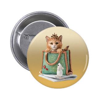 Princesa Kitten en bolso con el ratón y la revista Pins