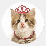 Princesa Kitten Stickers Pegatina Redonda