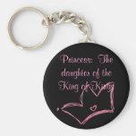 Princesa:  La hija del rey de reyes Llavero Redondo Tipo Pin