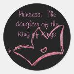 Princesa:  La hija del rey de reyes Pegatina Redonda
