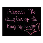 Princesa:  La hija del rey de reyes Tarjeta Postal