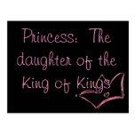 Princesa:  La hija del rey de reyes Tarjetas Postales