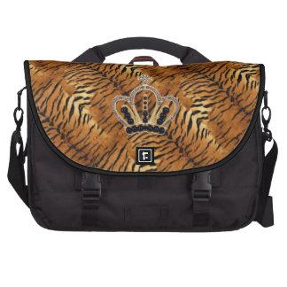 Princesa Laptop Bag de la piel del tigre Bolsas Para Portatil