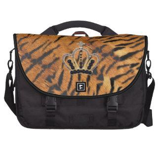 Princesa Laptop Bag de la piel del tigre Bolsas De Portátil