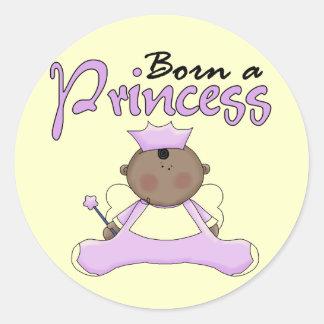 Princesa Lavender T-shirts y regalos del bebé Pegatina Redonda