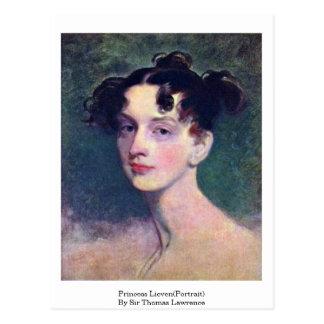Princesa Lieven (retrato) por sir Thomas Lorenzo Tarjetas Postales