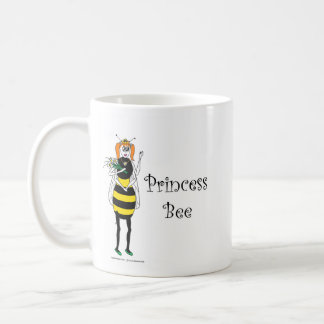 Princesa linda Bee del dibujo animado Taza Básica Blanca