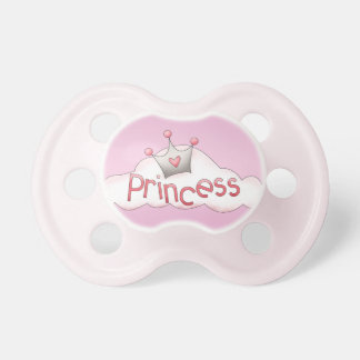 Princesa linda Crown Pink Pacifier Chupetes De Bebé