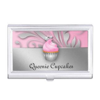 Princesa linda Cupcake Queen Bakery Pink Cajas De Tarjetas De Presentación