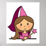 Princesa linda del clip art del dibujo animado en posters