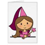 Princesa linda del clip art del dibujo animado en felicitación