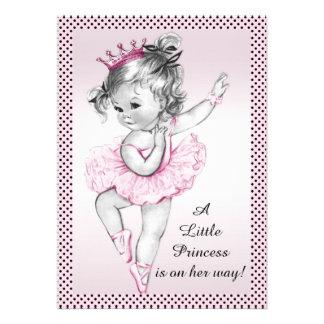 Princesa linda fiesta de bienvenida al bebé de la anuncio personalizado