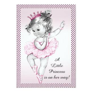 """Princesa linda fiesta de bienvenida al bebé de la invitación 5"""" x 7"""""""
