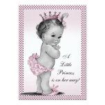 Princesa linda fiesta de bienvenida al bebé del invitación personalizada