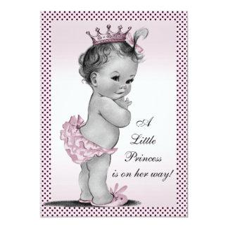 """Princesa linda fiesta de bienvenida al bebé del invitación 5"""" x 7"""""""