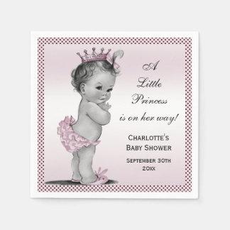 Princesa linda fiesta de bienvenida al bebé del vi servilleta de papel