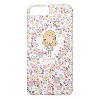 Princesa linda Monogram Custom Floral Funda iPhone 7 Plus