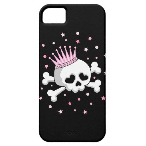 Princesa linda Skull Funda Para iPhone SE/5/5s
