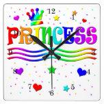 Princesa linda Tiara del arco iris del clip art de Reloj