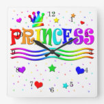 Princesa linda Tiara del arco iris del clip art Reloj