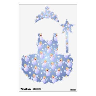 Princesa linda Wall Decal de la hada madrina Vinilo Adhesivo