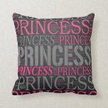 Princesa linda Wordart Almohadas