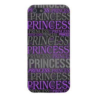Princesa linda Wordart iPhone 5 Coberturas