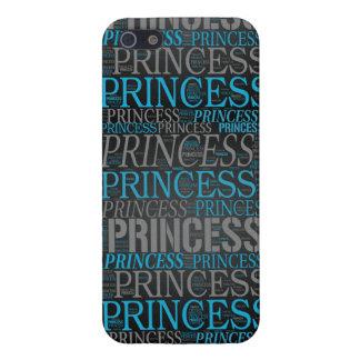 Princesa linda Wordart iPhone 5 Protectores