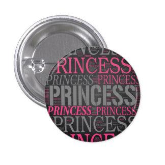 Princesa linda Wordart Pins