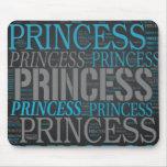 Princesa linda Wordart Tapetes De Raton