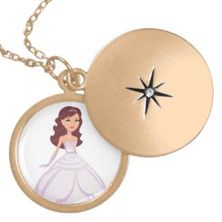 Princesa Locket Necklace para los chicas Medallón