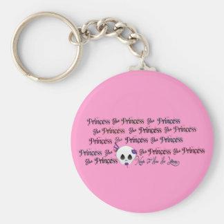 Princesa Lollipop Keychain del cráneo Llavero Redondo Tipo Pin