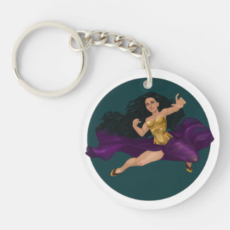 Princesa Lucy Corsetry Round Keychain del guerrero Llavero Redondo Acrílico A Doble Cara