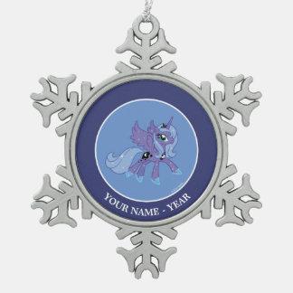 Princesa Luna Adorno De Peltre En Forma De Copo De Nieve
