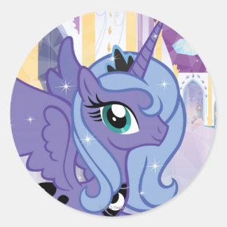 Princesa Luna Etiquetas Redondas