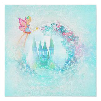 Princesa mágica Castle del cuento de hadas Perfect Poster