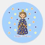Princesa mágica pegatina redonda