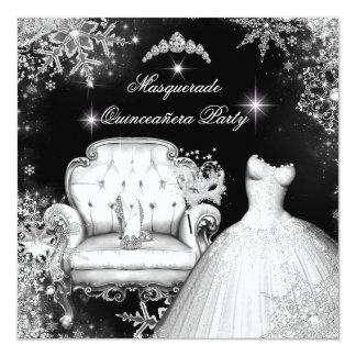 """Princesa mágica Quinceanera Masquerade Party Invitación 5.25"""" X 5.25"""""""