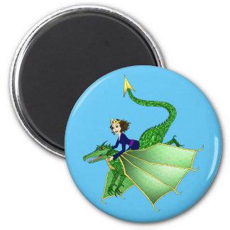 Princesa Magnet del dragón Imán Redondo 5 Cm