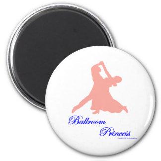 Princesa Magnets del salón de baile Imán Redondo 5 Cm