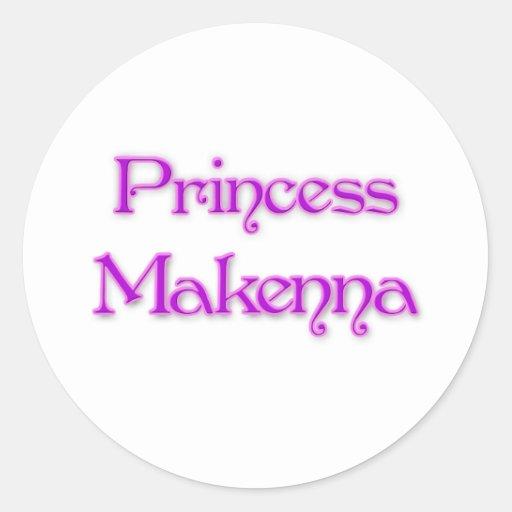 Princesa Makenna Pegatina Redonda