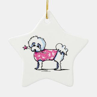Princesa maltesa de Lil Ornamento De Navidad