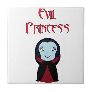 Princesa malvada azulejo cuadrado pequeño