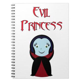 Princesa malvada spiral notebooks