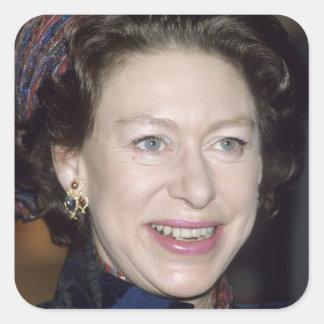 Princesa Margaret de HRH Pegatina Cuadrada