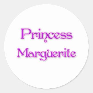 Princesa Marguerite Pegatinas Redondas