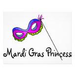 Princesa Mask del carnaval Invitacion Personal