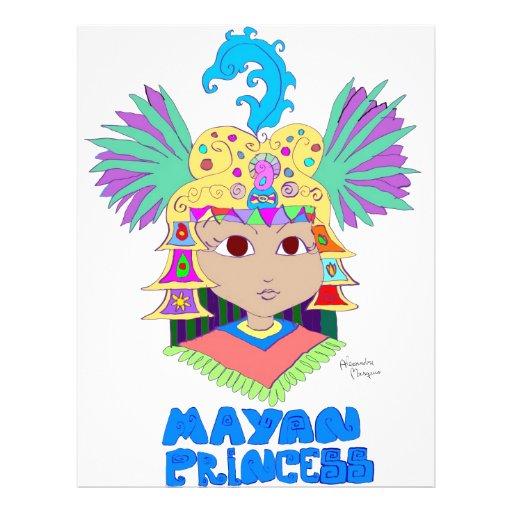 "Princesa maya folleto 8.5"" x 11"""